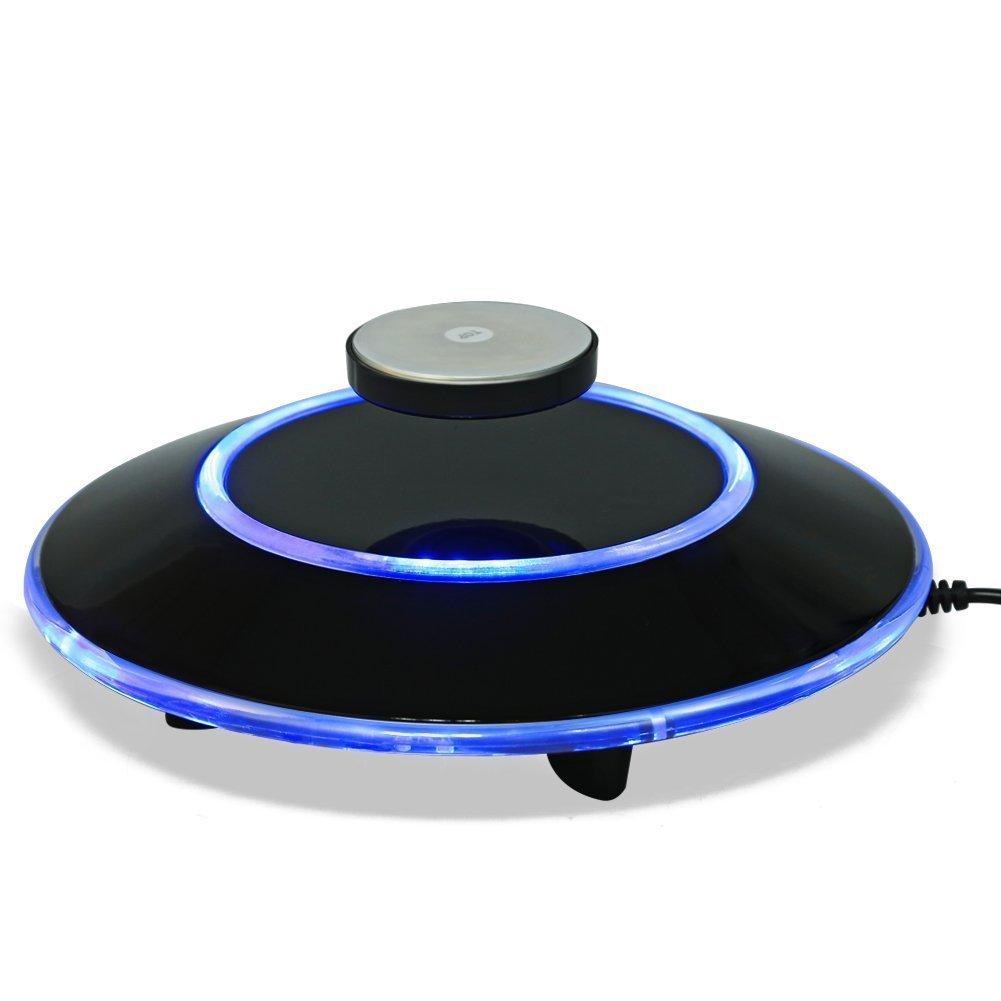 空中浮遊 空中浮遊させる装置 磁気浮上 ディスプレイスタンド 宙に浮く空中浮揚 宙に浮装置 LEDライト 点灯 ベース付き オフィス 家庭 飾り B078K8BLY2