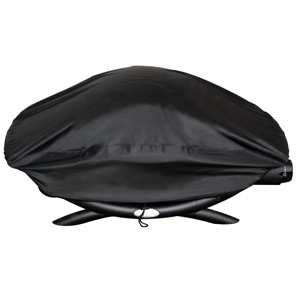 Onlyfire BBQ Gas Grill Cover fit for Weber Baby Q, Q200 Q220 and Q2000 Gas Grills,Black only fire
