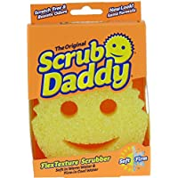 Scrub Daddy Flex Texture Cleaning Sponge, Original Yellow