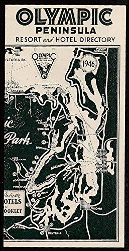Olympic Peninsula WA Resort & Hotel Directory booklet 1946