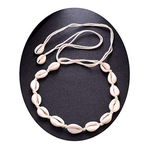 - Bohemian Beach Tassel Necklace Natural Sea Shell Choker Chain Collar Boho Women Jewelry Shellhard