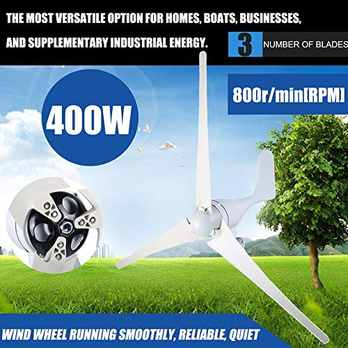lOOkME-H Wind Turbine Windmill Generator Wind Renewable Energy kit 3 Blades 400Watt 12V / 24V Marine, rv, Homes, Businesses and Industrial