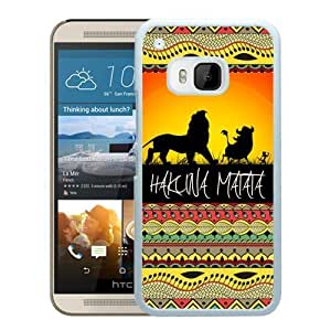 Fashionable and Durable Case hakuna matata 1 HTC ONE M9 Case in White