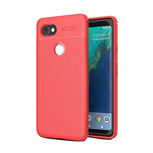 Google Piexl 2 XL Case, Alotm [Slim Thin] Soft TPU Shock Absorption Anti-Scratches Flexible Soft Protective Case Cover for Google Pixel 2 XL (Red-pixel 2XL)