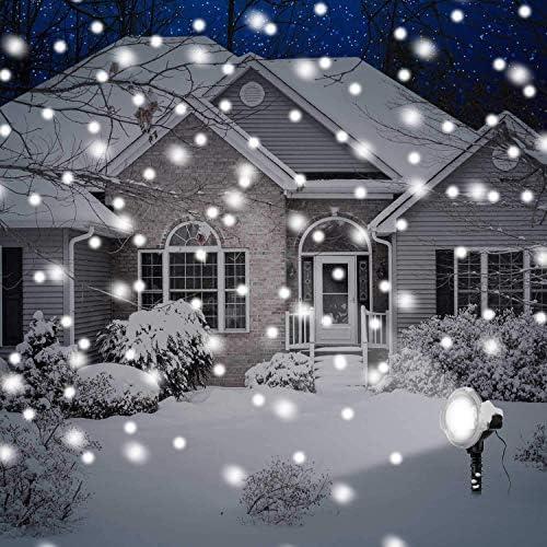 Kengsiren Weihnachts Projektor Lichter Im Freien Dreh Schneeflocken LED Weihnachtsbeleuchtung, Wasserdicht Projektor Bühnenbeleuchtung Dekoration Lichter Familiengarten Hochzeitsgesellschaft
