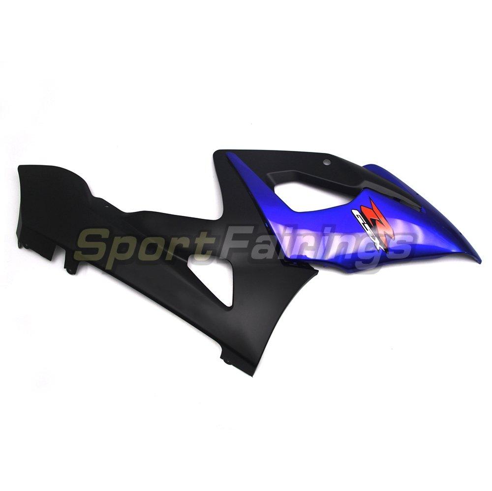 Sportfairings Full Injection ABS Fairing Kits For Suzuki GSX-R 1000 K5 Year 2005 2006 Matte Black Blue Bodyworks