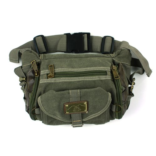 Canvas Travel and Hiking Fanny Pack, 12″, Outdoor Stuffs
