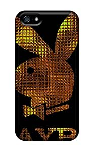 Hot ZGSVijd428xtvlL Case Cover Protector For Iphone 5/5s- Gold Playboy Logo