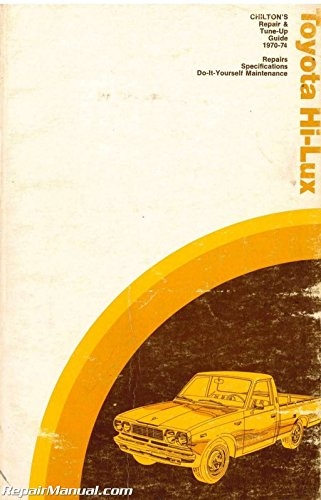 UCH6205 Used Chilton Toyota Hi-Lux 1970-1974 Repair and Tune Up Guide