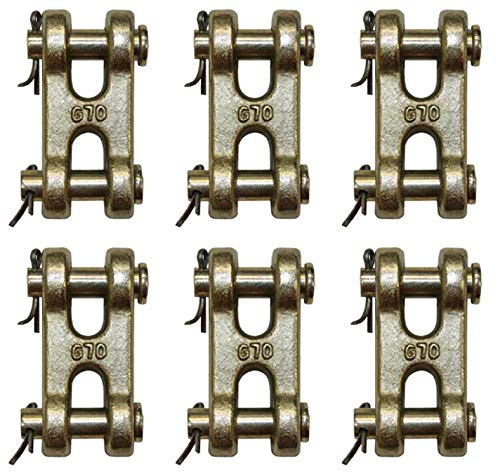 BA Products (6) 11-DC38-x6, 3/8'' Double Clevis, Grade 70 Chain Connector, Coupling Link. Master Link