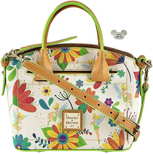 Disney Parks Dooney & Bourke Tinkerbell Crossbody Satchel & Rare Never Grow Up Piece of Magic (Handbag Dooney Tinkerbell)