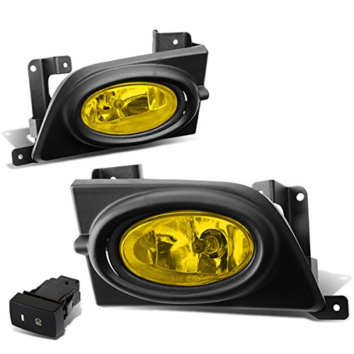 Honda Civic 4 Door Corner - For 06-08 Honda Civic 8th Gen 4-Door Pair of Amber Lens OE Style Driving Fog Light + Wire + Switch