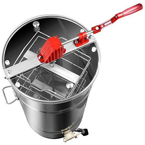 Goplus Large 2 Frame Stainless Steel Honey Extractor Beekeeping Equipment New by Goplus (Image #2)
