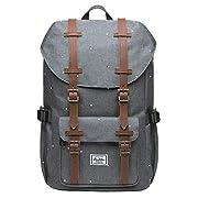KAUKKO Rucksack Damen Herren Schön und Praktisch Daypack mit Laptopfach für 13″ Notebook für Ausflüge, Uni, Schule, 16L, Grau