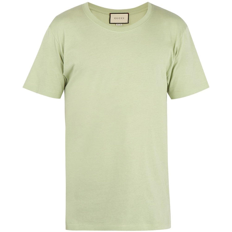 (グッチ) Gucci メンズ トップス Tシャツ Logo-print cotton T-shirt [並行輸入品] B079GDWHG8   XS