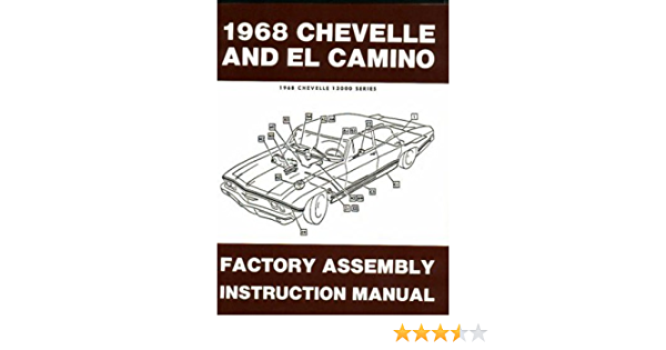 1968 Chevelle El Camino Factory Assembly Instruction Manual Covers Chevelle Malibu Ss Monte Carlo Station Wagons And El Camino Chevy Chevrolet 68 Gm Chevy Chevrolet Chevelle El Camino Malibu Gm Chevy