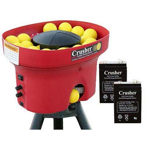(Heater Sports Crusher Professional Mini Lite-Ball Pitching Machine with BONUS Steel Tripod & 8 Hour Battery)