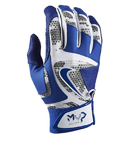 Nike MVP Elite Adult Baseball Batting Glove GB0401 White/Game Royal/Wolf Grey (S)