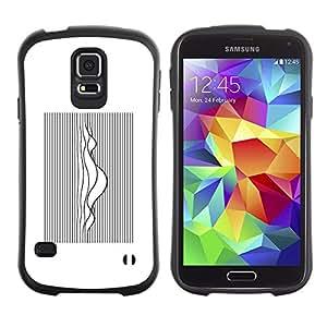 Suave TPU GEL Carcasa Funda Silicona Blando Estuche Caso de protección (para) Samsung Galaxy S5 / CECELL Phone case / / Music Sound Waves White Black /