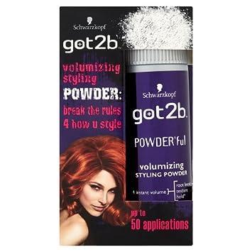 Schwarzkopf got2b POWDERful Volumising Styling Powder, volume booster for texture & hairstyles with volume, powder for style & finish, pack: 6 x 10g Schwarzkopf & Henkel 05012583503071