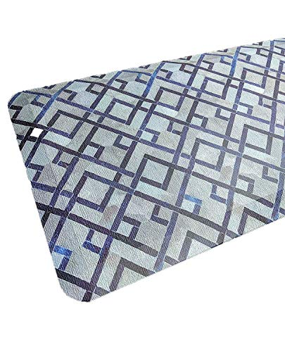Anti Fatigue Comfort Floor Mat By Sky Mats -Commercial Grade Quality Perfect for Standup Desks, Kitchens, and Garages - Relieves Foot, Knee, and Back Pain (24x70x3/4-Inch, Blue Diamonds) (Couch New For My Foam Cushions)