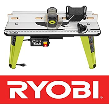 Trim router table amazon new ryobi universal router table wood working tool adjustable fence a25rt03 nib greentooth