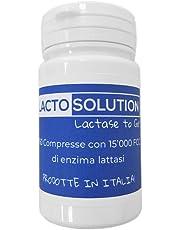 Lactosolution 15000 FCC 150 compresse confezione REFILL, il miglior integratore di lattasi per intolleranti al lattosio