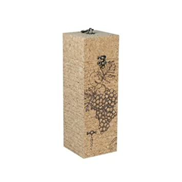 "Caja Decorativa para Botella de Vino""Racimo de Uva"". Botelleros. Cajas Multiusos"