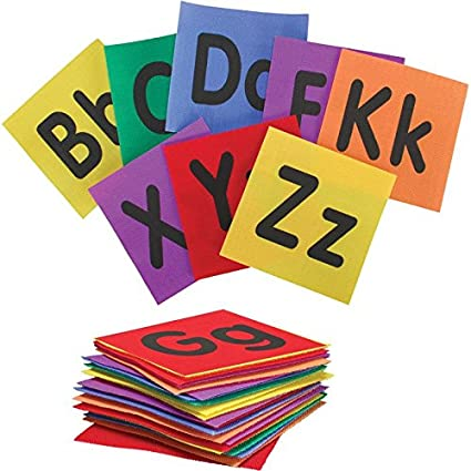 Amazon.com: Really Good Stuff Alphabet Carpet Mark-Its – Make Learning The Alphabet Fun, Easy and Interactive with These Carpet Squares: Home & Kitchen