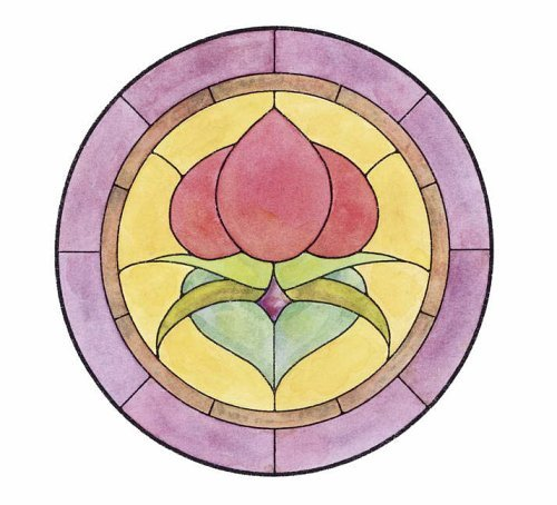 Easy Victorian Florals Stained Glass Pattern Book (Dover Stained Glass Instruction) by Connie Clough Eaton ()