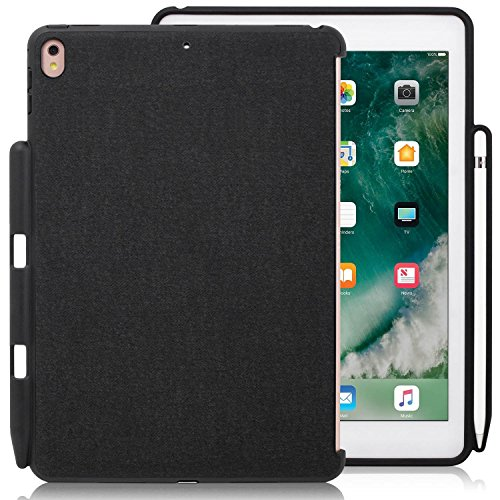 Smart Cover Back Cover (LUVVITT Case for iPad Pro 12.9 Back Cover with Pencil Holder Compatible with Smart Keyboard and Apple Smart Cover - Heather Black)