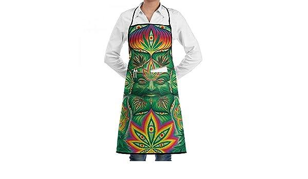 HOME - Delantales de Marihuana para Hierbas, 1 Pieza, 2 Bolsillos para la Cintura, diseño de Lunares: Amazon.es: Hogar