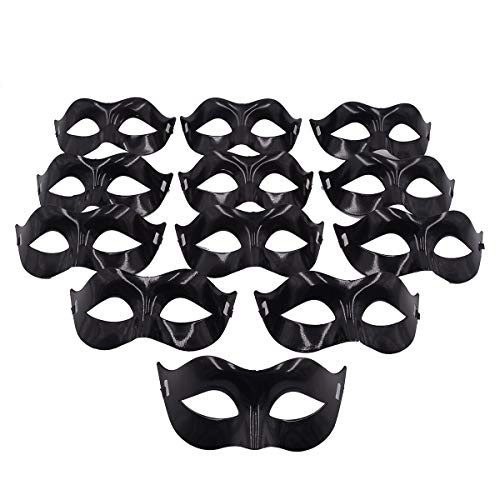 Masquerade Mask Party Favors - Mardi Gras Venetian Mask Halloween Novelty Gifts Pack of 12 -