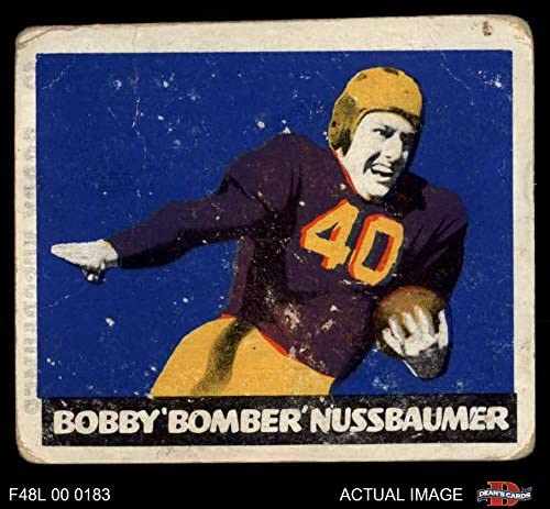 1948 Leaf # 43 MAR Robert Nussbaumer Washington Redskins (Football Card) (Maroon Jersey) Dean's Cards 2 - GOOD Redskins 51t175aQRsL