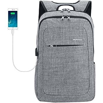 Kopack Slim Business Laptop Backpacks Anti thief Tear / water Resistant Travel Bag fits up to 15 15.6 Inch Macbook Computer Backpack in Gray