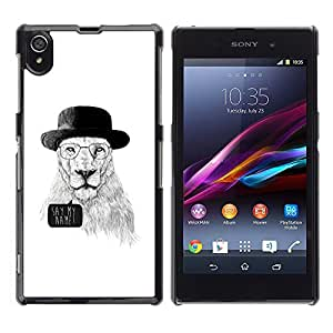 Impact Case Cover with Art Pattern Designs FOR Sony Xperia Z1 L39 Funny Meth Cook Lion Betty shop