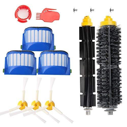 MAXDIRECT Pack Kit Cepillos y Repuestos de Accesorios para Aspiradoras iRobot Roomba Serie 600 - Kit de 13PCS