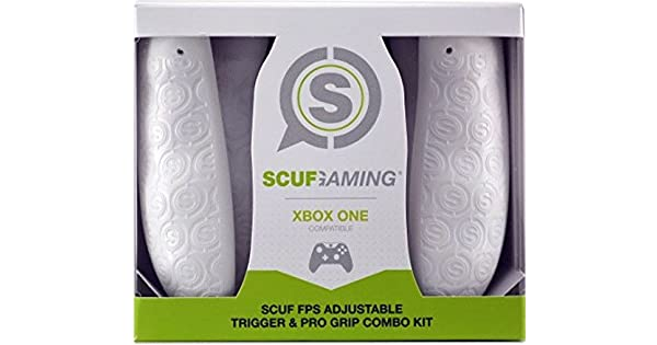 SCUF FPS Adjustable Trigger And Pro Grip Combo Kit - White (Xbox ...