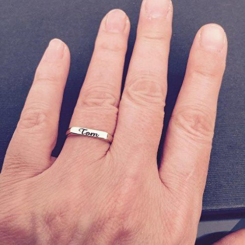 Amazon Com 14k Gold Ring Name Engraved Handmade Design Sizes Us