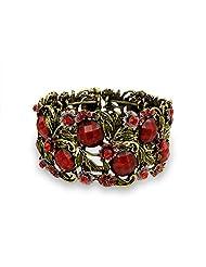 Bling Jewelry Alloy Crystal Garden Flower Cuff Bracelet