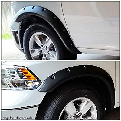 4Pcs Pocket Riveted Style (Matte Bump Texture) Wheel Fender Flares Replacement for 09-19 Ram Truck 1500: Automotive