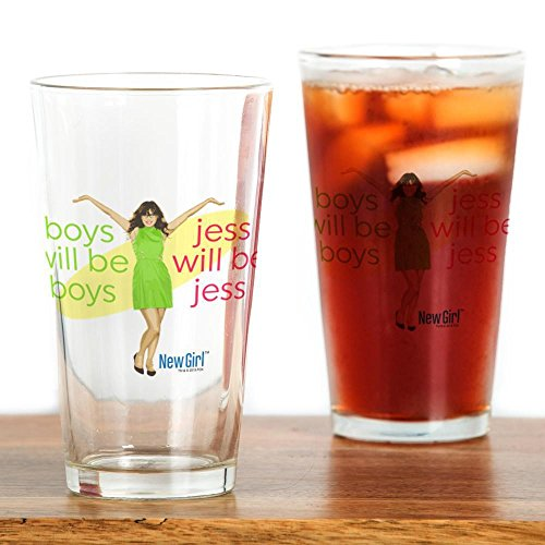 CafePress - New Girl Jess Will Be Jess - Pint Glass, 16 oz. Drinking - Zooey Glasses Deschanel
