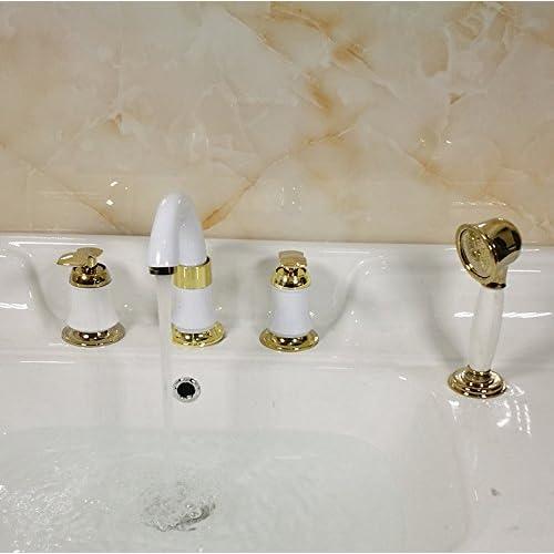 TougMoo New Bathroom Cabinet Sink Faucet Combination Set Of Four Copper Faucet Lavatory Faucet Factory,General Paint Gold best