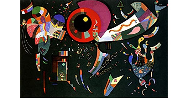 WASSILY KANDINSKY AROUND THE CIRCLE ABSTRACT CANVAS PICTURE PRINT WALL ART