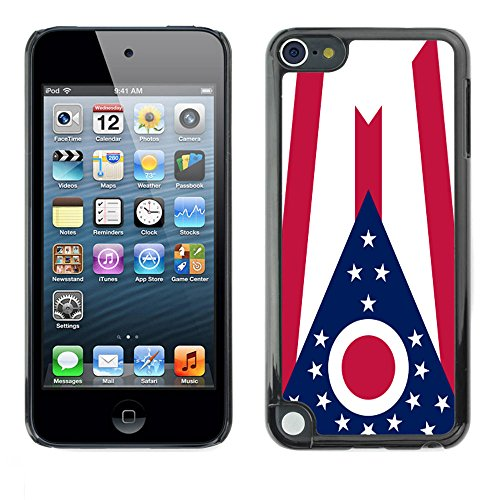 STPlus Ohio, The Buckeye State Flag USA United States of America Hard Cover Case for Apple iPod Touch 5 (Ipod Touch 5 Cases Ohio State)
