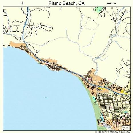 Amazon Com Large Street Road Map Of Pismo Beach California Ca