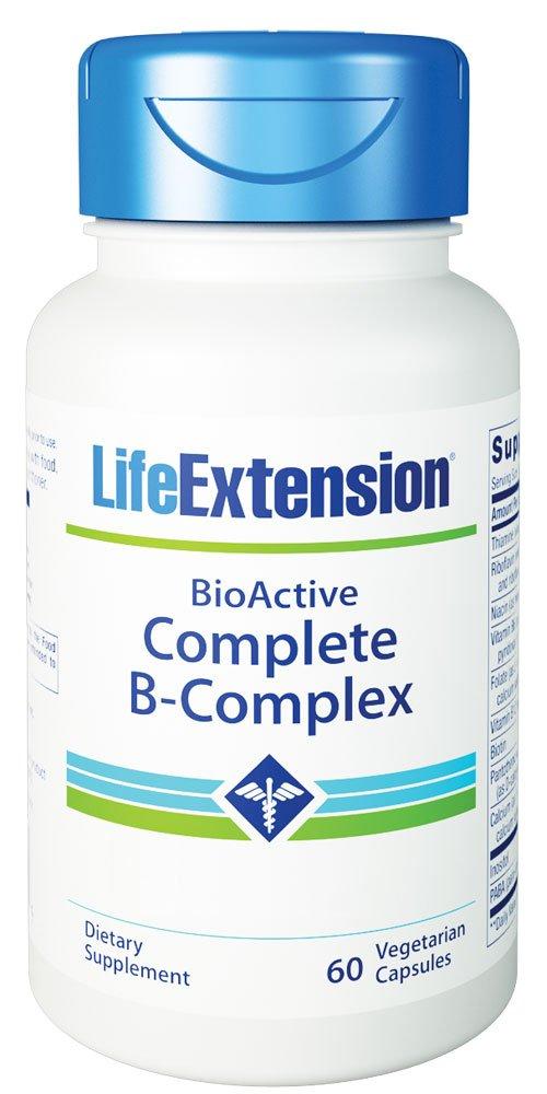 Life Extension Bio-Active Complete B-Complex, 60 Vegetarian Capsules