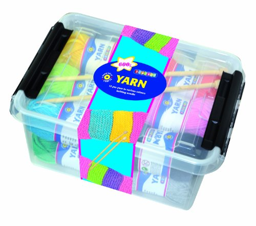 Playbox Yarn in Box with Needles in 12 Colours