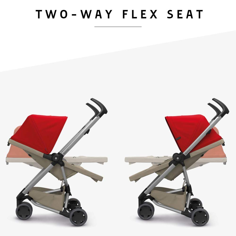 6 Months to 3.5 Years Compact Folding Frost on Grey Quinny Zapp Flex Lightweight City Stroller Two-Way Seat