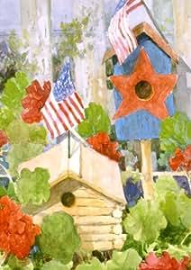 Star-Spangled Birdhouse Garden